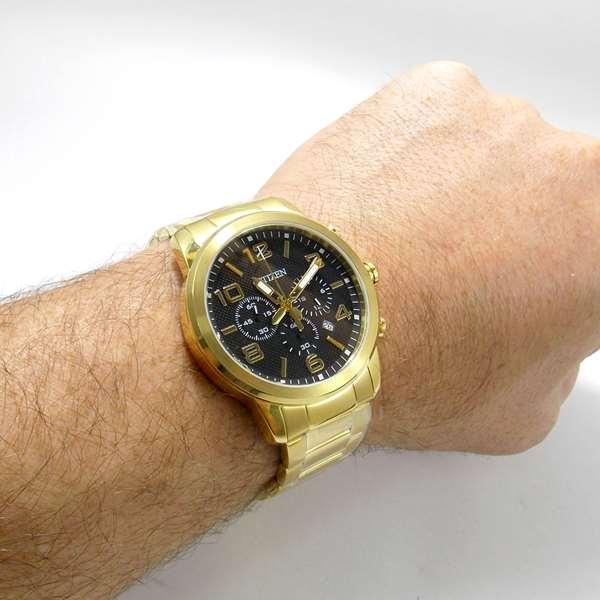 AN8052-55E Relógio Citizen Dourado Quartz Cronografo WR50  - E-Presentes