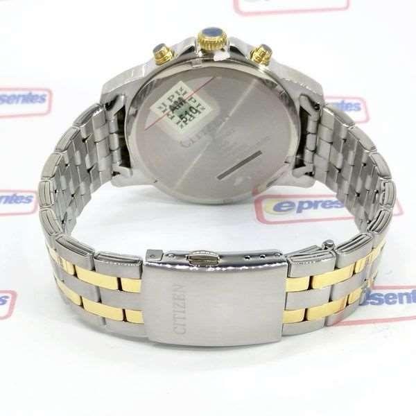 AN8104-53E Relógio Masculino Citizen WR50m Aço Misto Prateado e dourado  - Alexandre Venturini