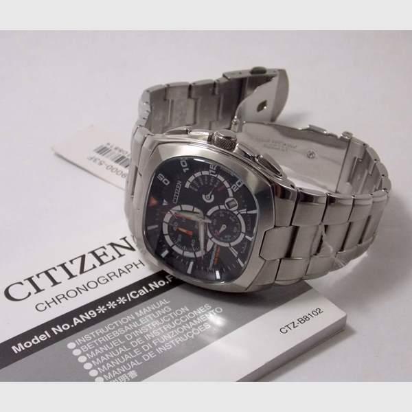 AN9000-53F Relógio Masculino Citizen Cronógrafo wr100 inox  - E-Presentes