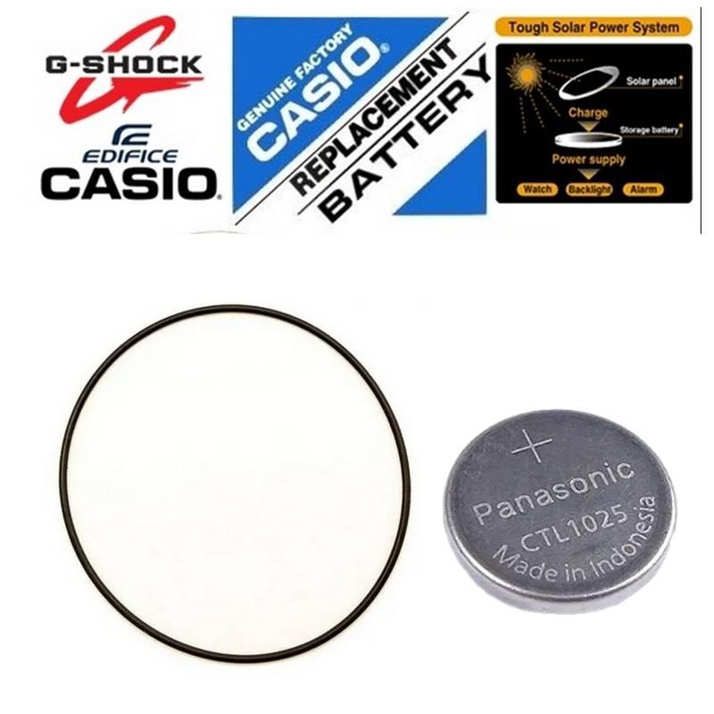 Anel de Vedação + Bateria Solar GS-1000 Casio G-Shock  - E-Presentes