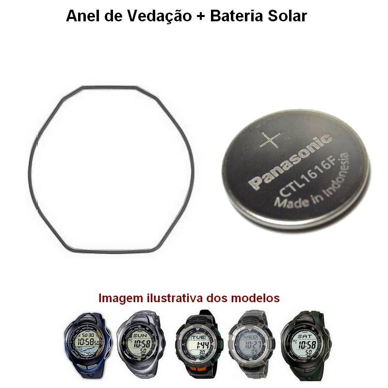 Anel de Vedação + Bateria Solar PAG-80 PRG-80 PRG-90 PAW-1200 SPW-1100  - E-Presentes