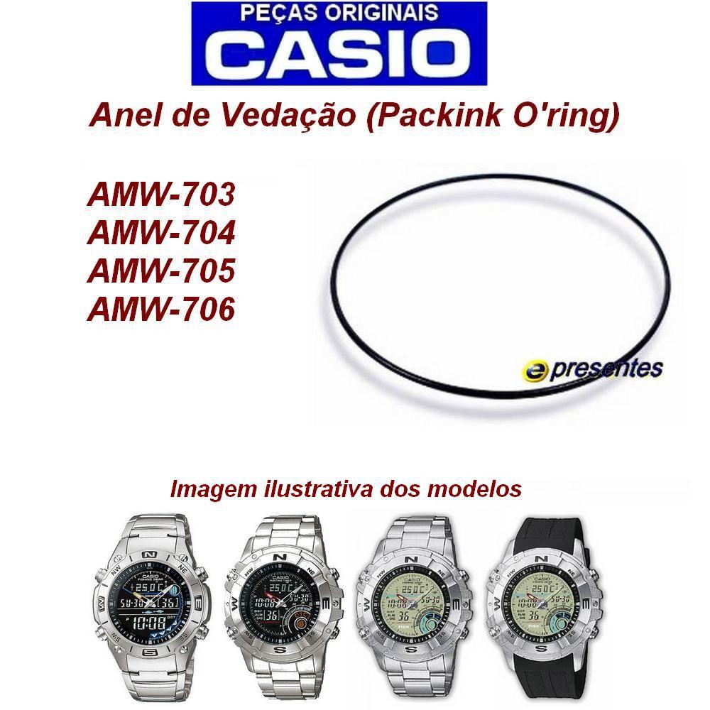 Anel de Vedação Casio AW-702, AMW-703, AMW-704, AMW705, AMW 706  - E-Presentes