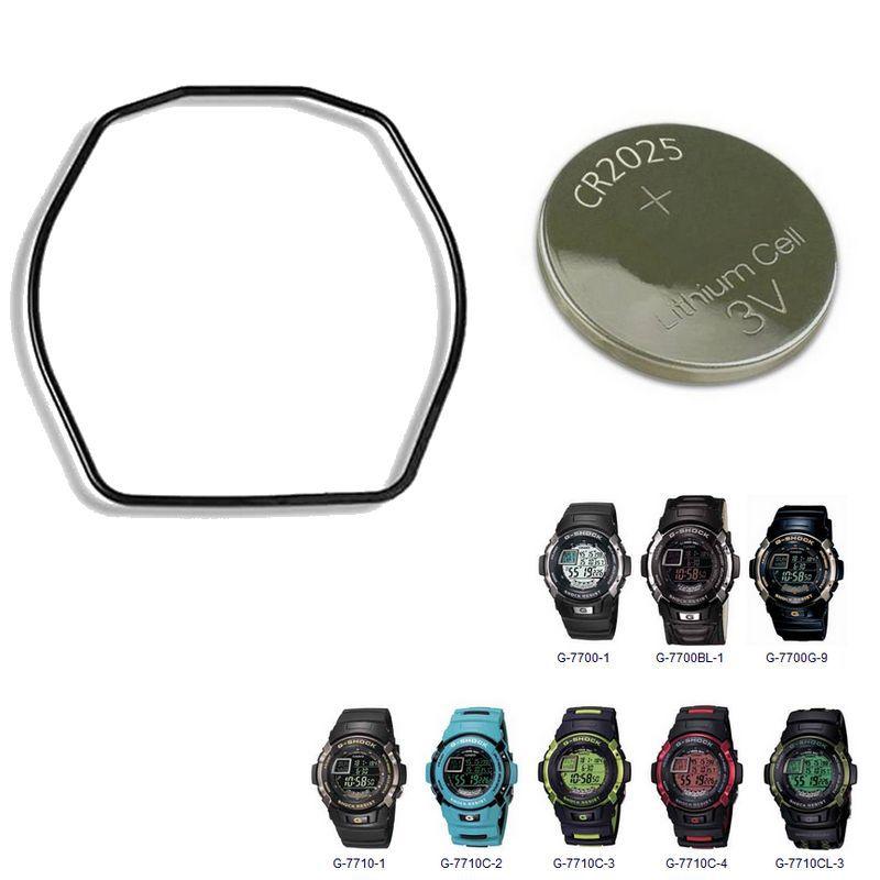 """Anel de Vedação O""""Ring + Bateria Relógio Casio G-7700,  G-7710  - E-Presentes"""