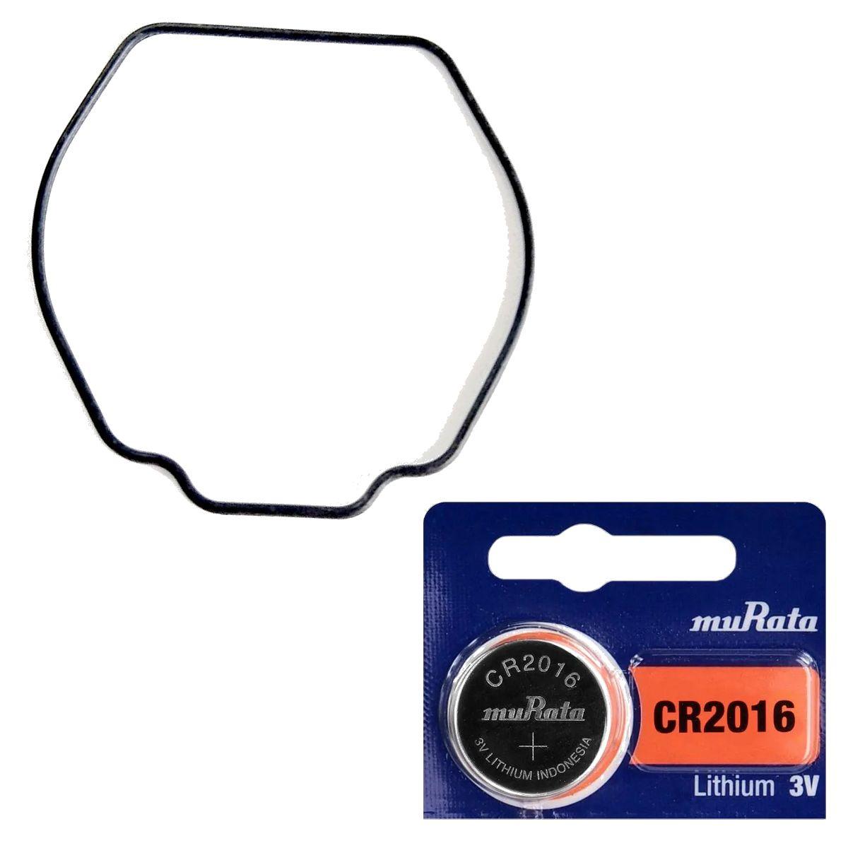 Anel de Vedação + Pilha CR2016 Sony Murata G-7600 Casio G-Shock  - E-Presentes