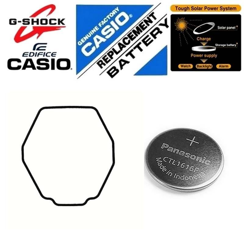 Anel Vedação + Bateria Recarregavel (solar) GWG-1000 Casio G-Shock Mudmaster  - E-Presentes