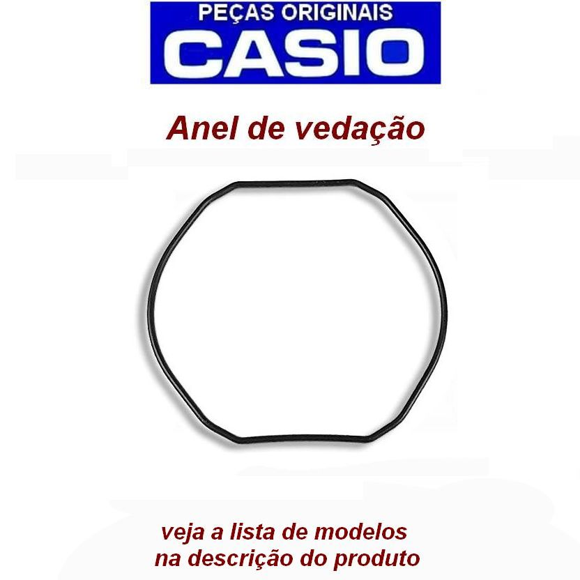 Anel Vedação Casio G-Shock G-300, G-301, G-302, G-303, G-304, G-306, G-313, G-314, G-315, G-350, G-351G-353, G-354, G-510, G-511, G-520, G-521,G-540  - E-Presentes