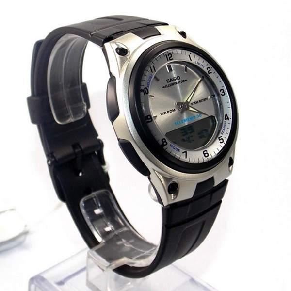 Aw-80-7av Relógio Casio Analógico Digital Agenda Alarmes  - E-Presentes