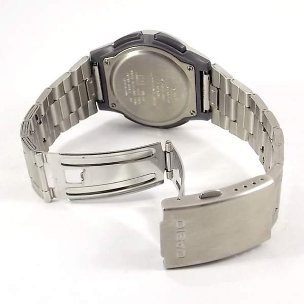 AW-80D-7A2VDF Relógio Casio AnaDigi Pulseira de Aço 3 Alarmes wr50  - E-Presentes