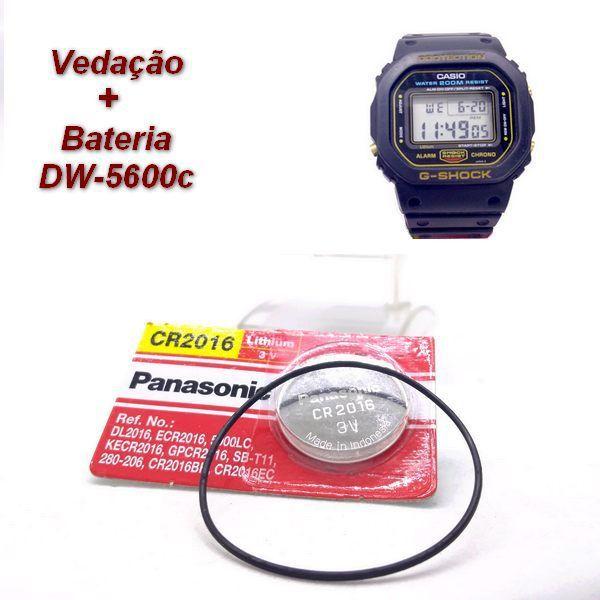 Bateria + Anel de Vedação Casio Gshock Dw-5600c  DW-5000-1 DW-5200C DW-5400C SWC-05 DW-5600B DW-5700C WW-5100C  - E-Presentes