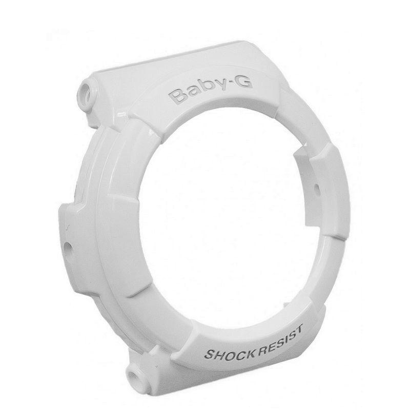 Bezel (capa) Casio Baby-G Branco Brilhante BGA-131-7,  BGA-132-7B, BGA-160-7B,  BGA-161-7  - E-Presentes