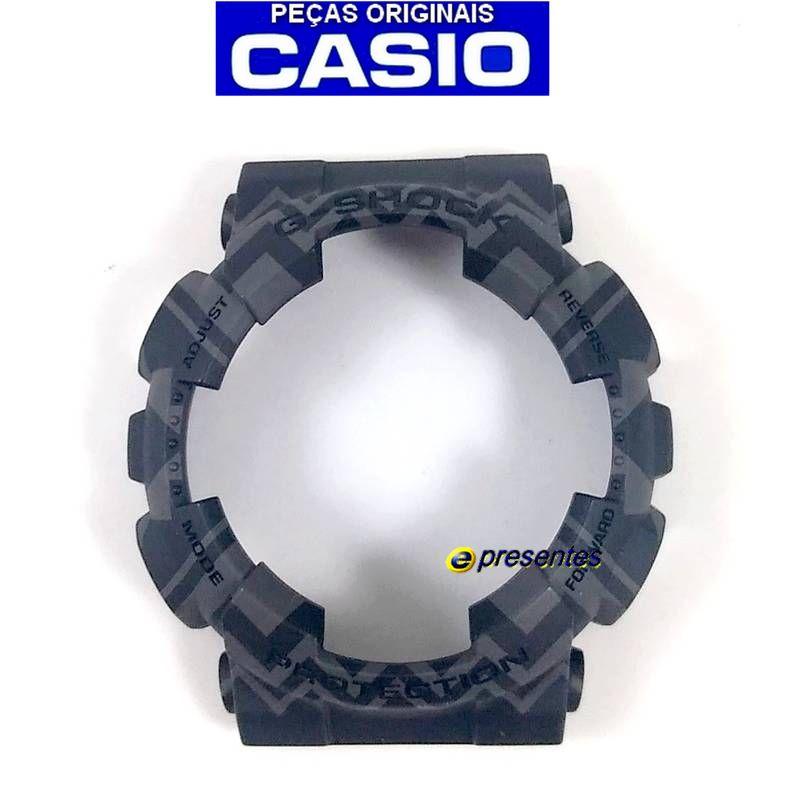 Bezel Capa Casio G-shock GA-110TP-1A Preto / GRAFITE TRIBAL   - E-Presentes