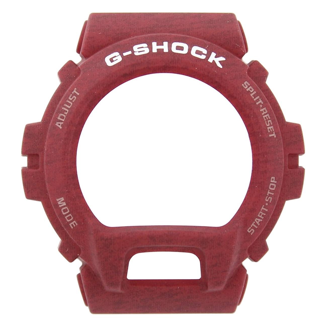 Bezel Capa Casio G-shock GD-X6900HT-4 Resina Vermelho Texturizado  - E-Presentes