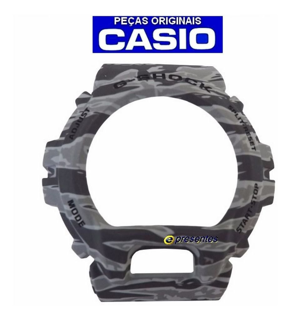 Bezel Capa Casio G-shock GD-X6900TC-8 GD-X6900CM-8 Cinza 100% Original  - E-Presentes