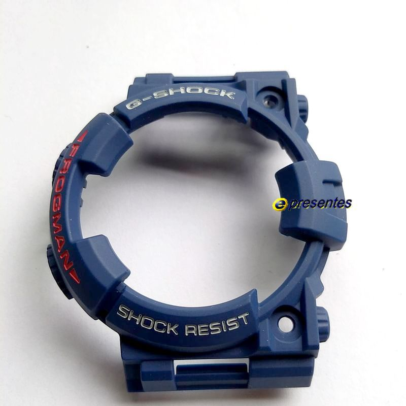 Bezel (capa) Casio G-Shock GF-1000NV-2 E GWF-1000NV-2 Azul Escuro fosco  - E-Presentes