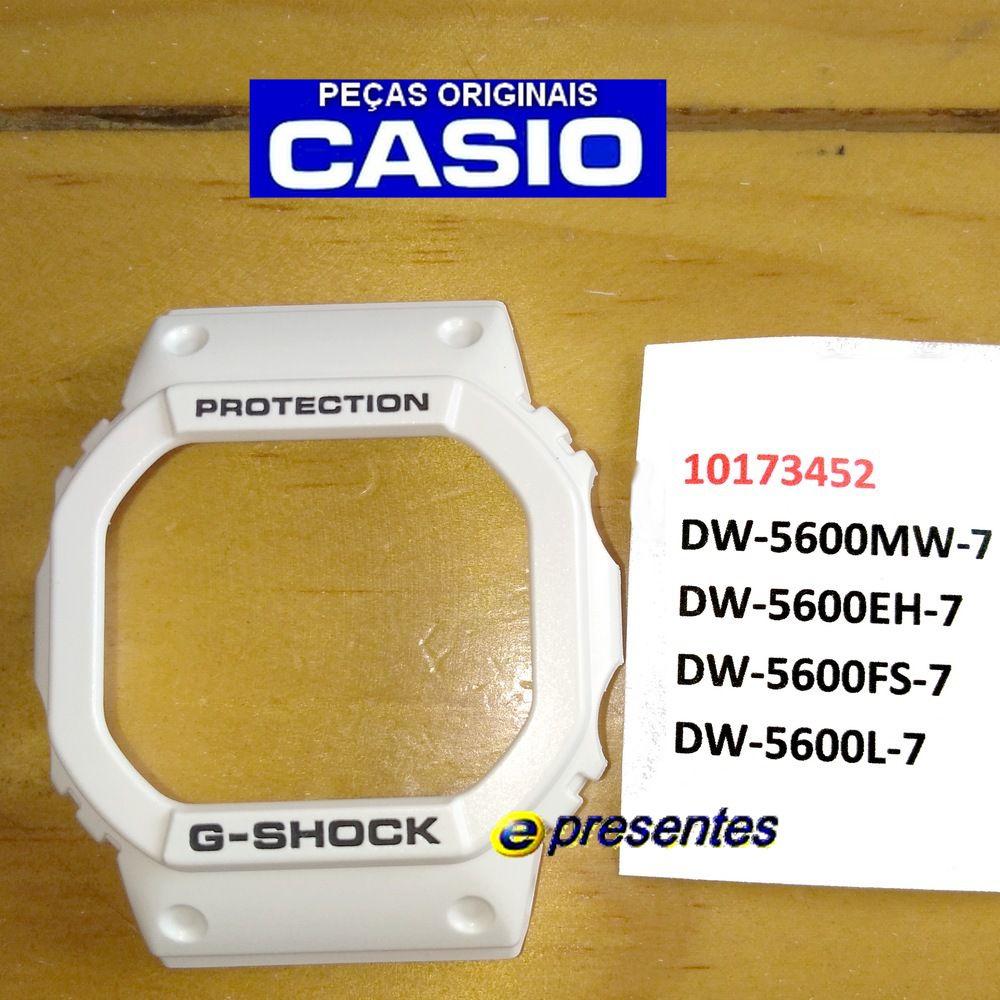 Bezel Capa  Casio G-Shock DW-5600MW,  DW-5600EH, DW-5600FS, DW-5600L Resina Branco Fosco*  - E-Presentes