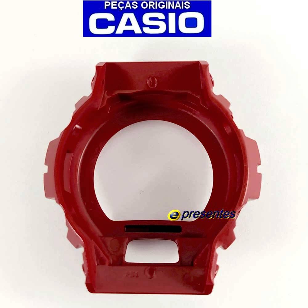 Bezel Capa DW-6900cb-4 Vermelho Verniz Casio G-Shock  - E-Presentes