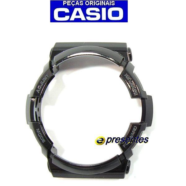 Bezel Capa Moldura Casio G-shock Preto Brilhante GA-200BW-1A  - E-Presentes