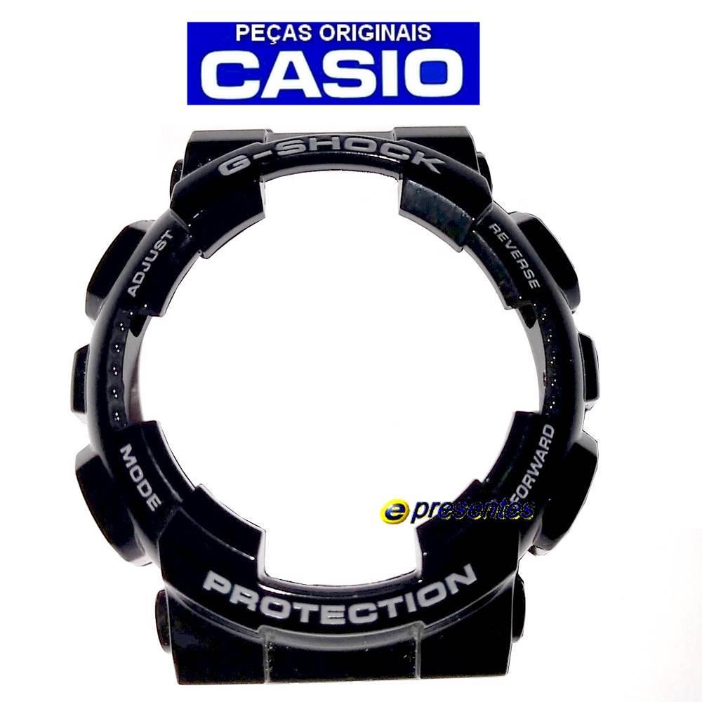 Bezel(Capa Protetora) GD-110-1 Casio G-shock Preto Brilhante  - E-Presentes