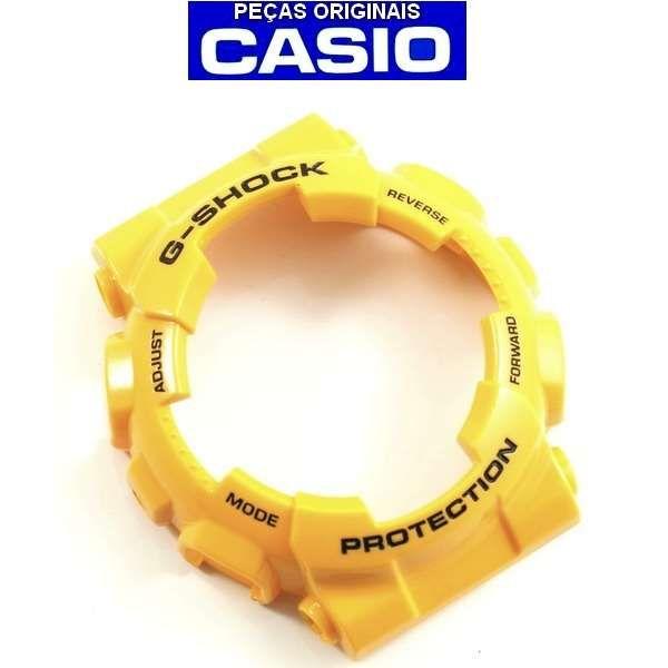 Bezel Casio G-shock Amarelo GA-100A-9A   - E-Presentes