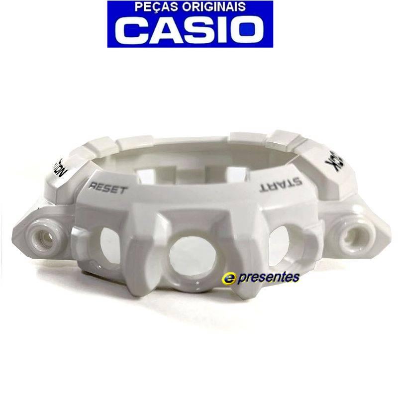 Bezel Casio G-shock Branco Brilhante GAC-100GW-7A  - E-Presentes