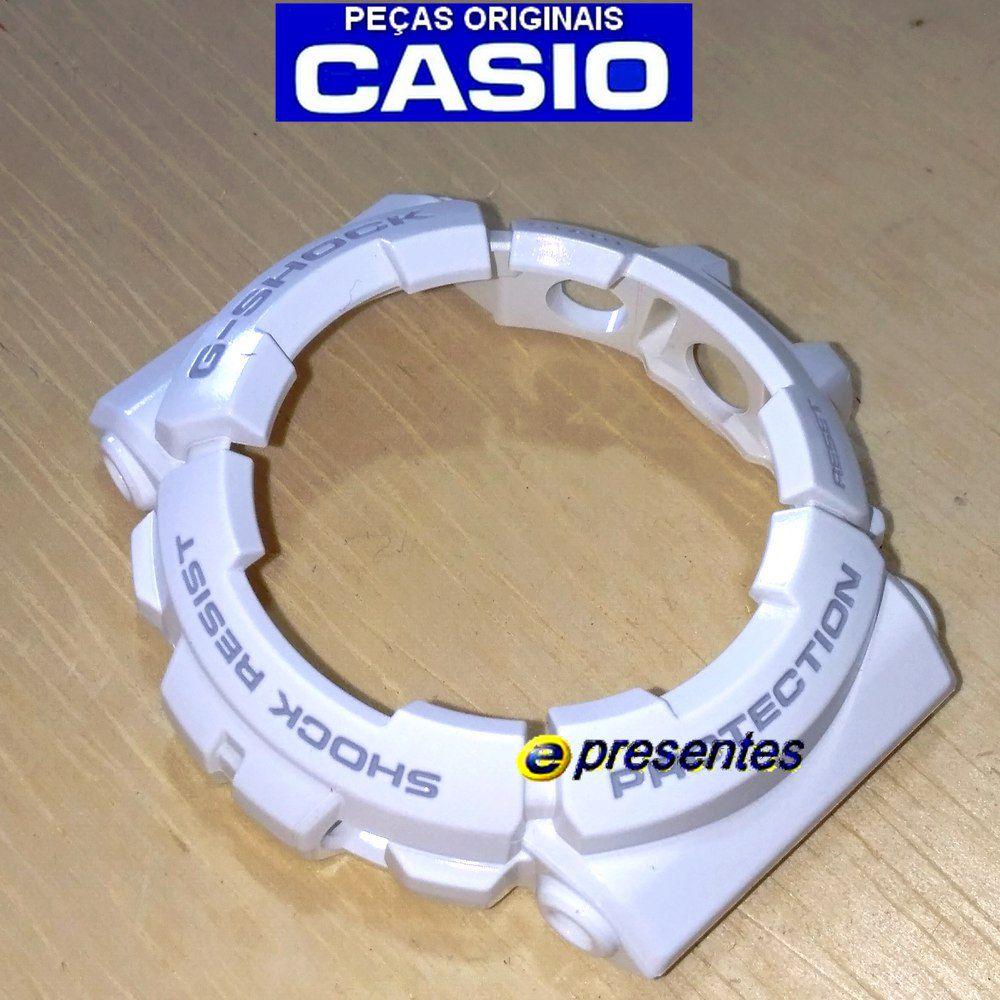 Bezel Casio G-shock Branco Brilhante GAC-100RG-7  - E-Presentes