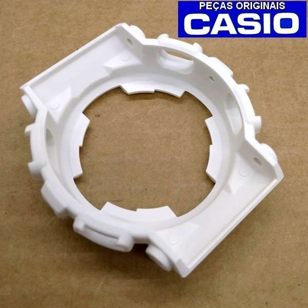 Bezel Casio G-shock Branco Fosco Ga-100B-7A *  - E-Presentes