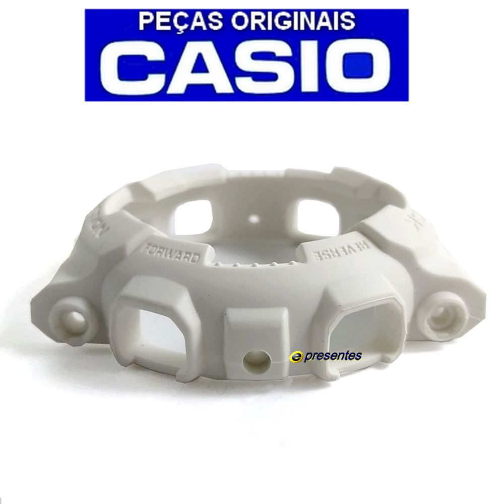 Bezel Casio G-shock Branco Fosco GA-110BC-7A GD-100WW-7A *  - E-Presentes
