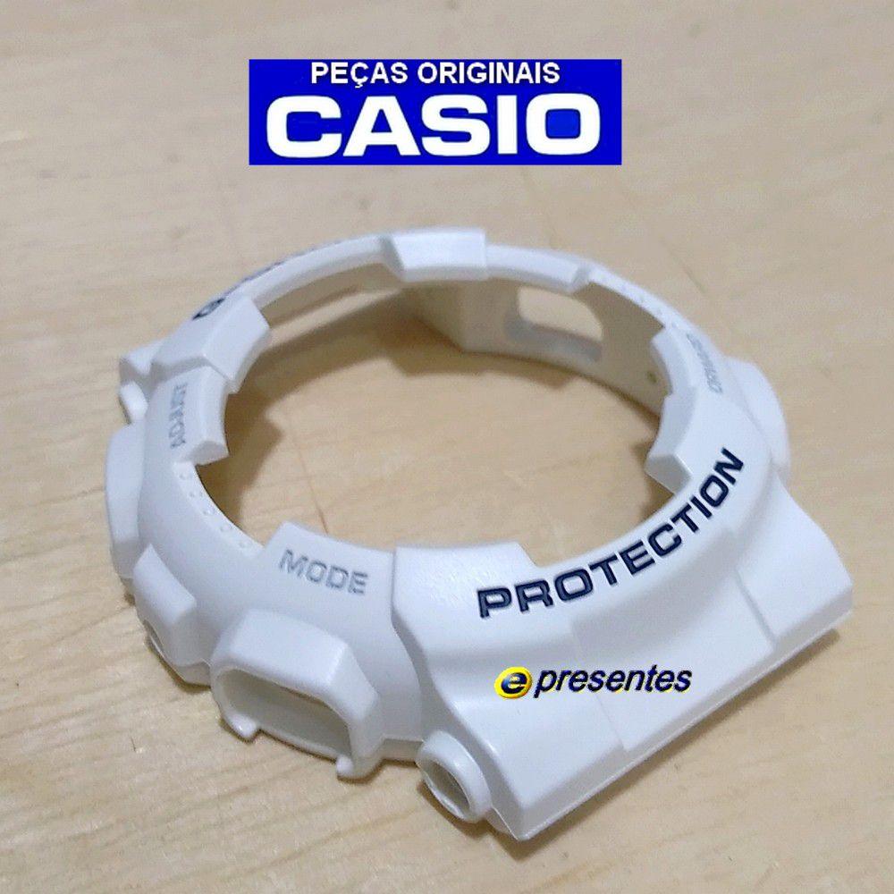 Bezel Casio G-shock Branco Fosco GA-110LD-7A  - E-Presentes