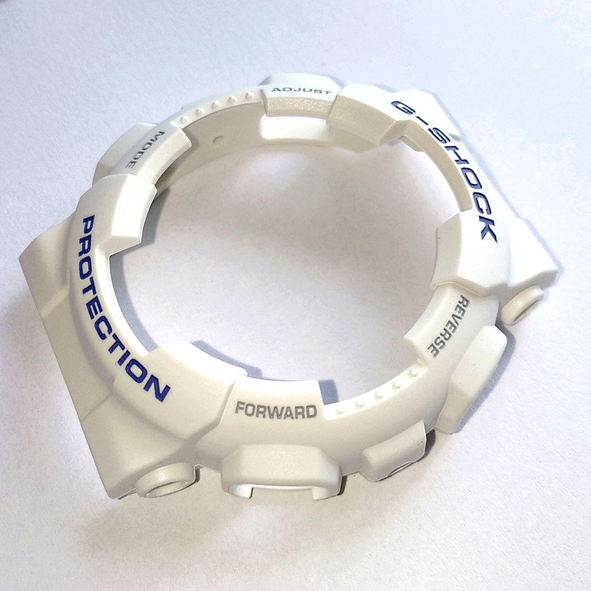 Bezel Casio G-shock Branco Fosco GA-110WB-7A  - E-Presentes