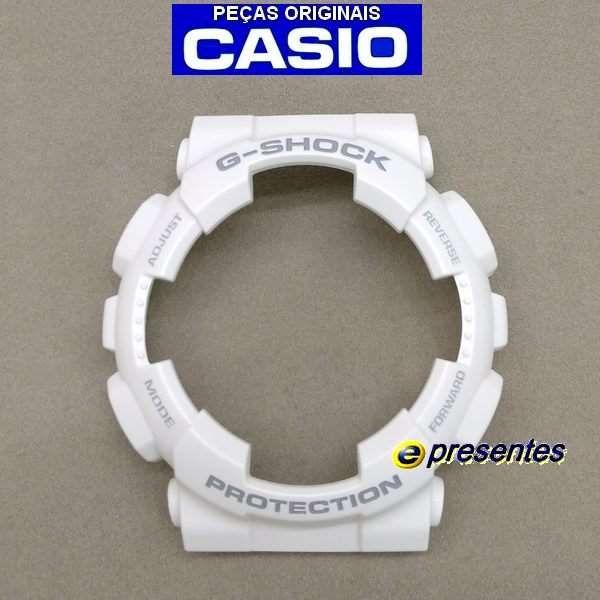 Bezel Casio G-shock Branco Fosco GAX-100A-7 Original  - E-Presentes