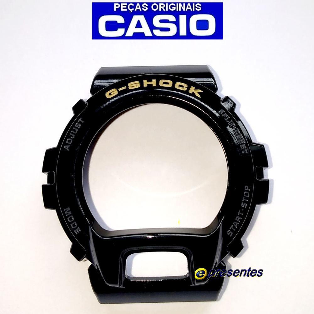 Bezel Casio G-shock DW-6900CB-1 Preto Brilhante Verniz  - E-Presentes