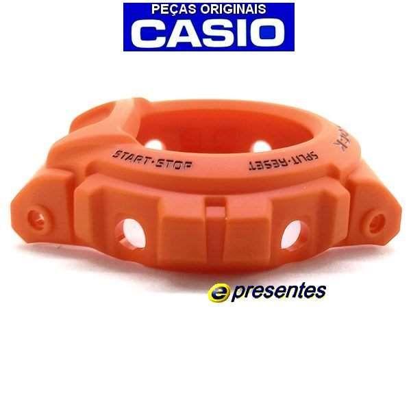 Bezel Casio G-Shock  DW-6900mm-4 LARANJA FOSCO  - E-Presentes