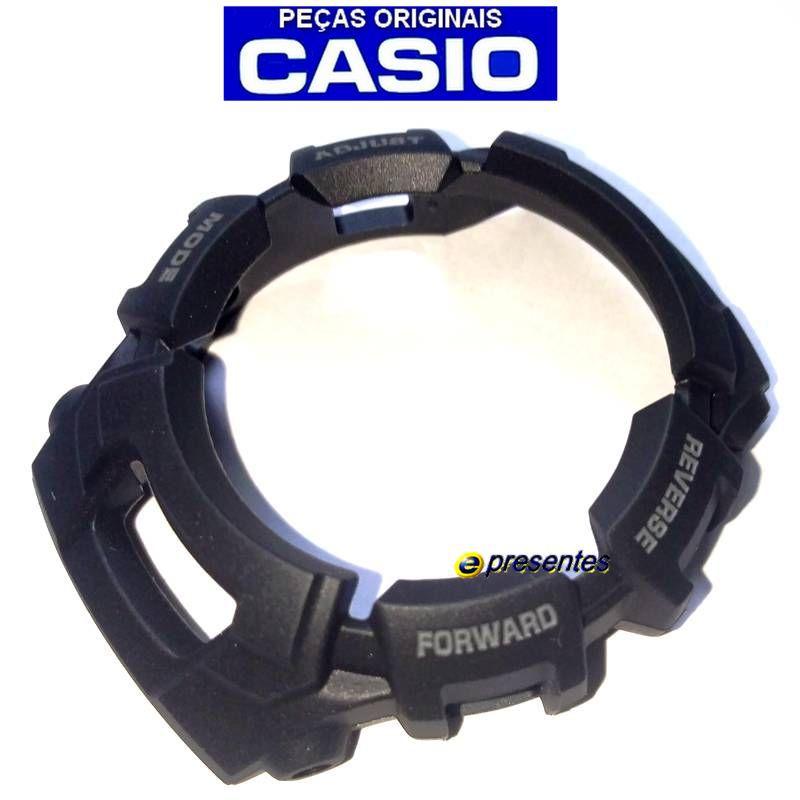 Bezel Casio G-shock G-2110, G-2300, G-2310, GW-2320 Preto Fosco  - E-Presentes