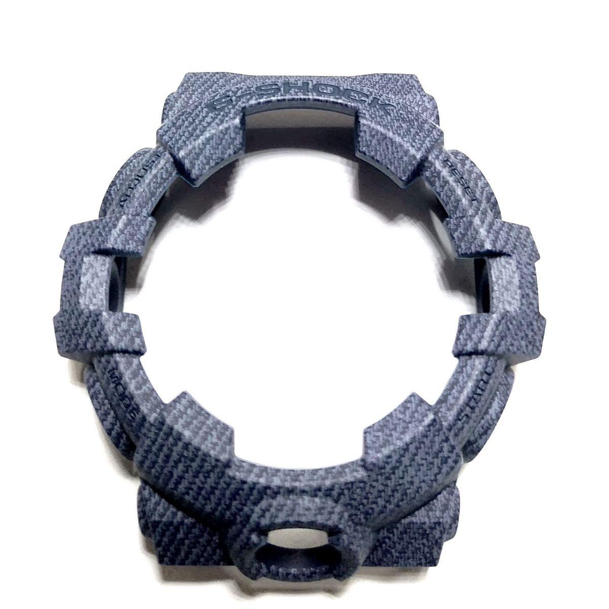 Bezel Casio G-shock GA-700DE-2A Resina Azul Texturizado Jeans  - E-Presentes