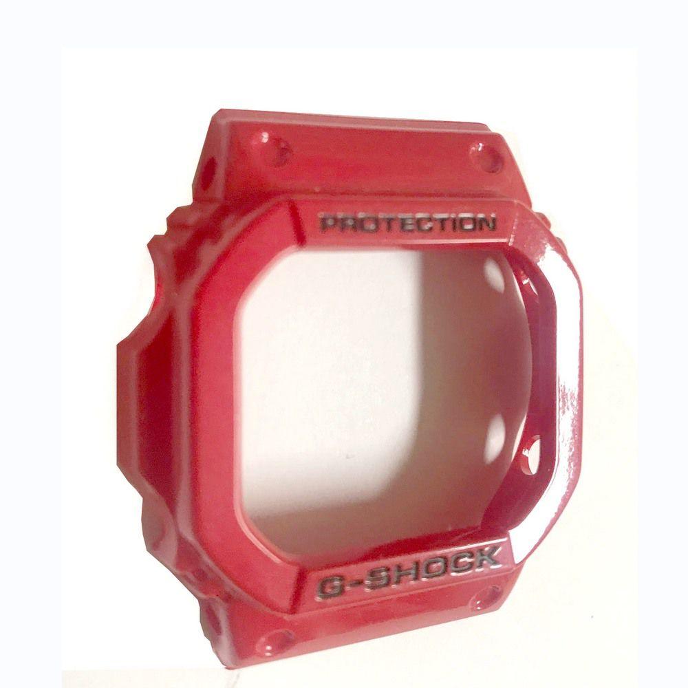 Bezel Casio G-Shock GLX-5600-4 G-lide Vermelho Verniz  - E-Presentes