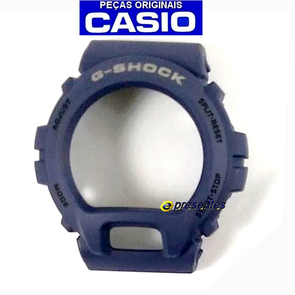 Bezel DW-6900HM-2 Azul Fosco Casio G-Shock 100% Original  - E-Presentes