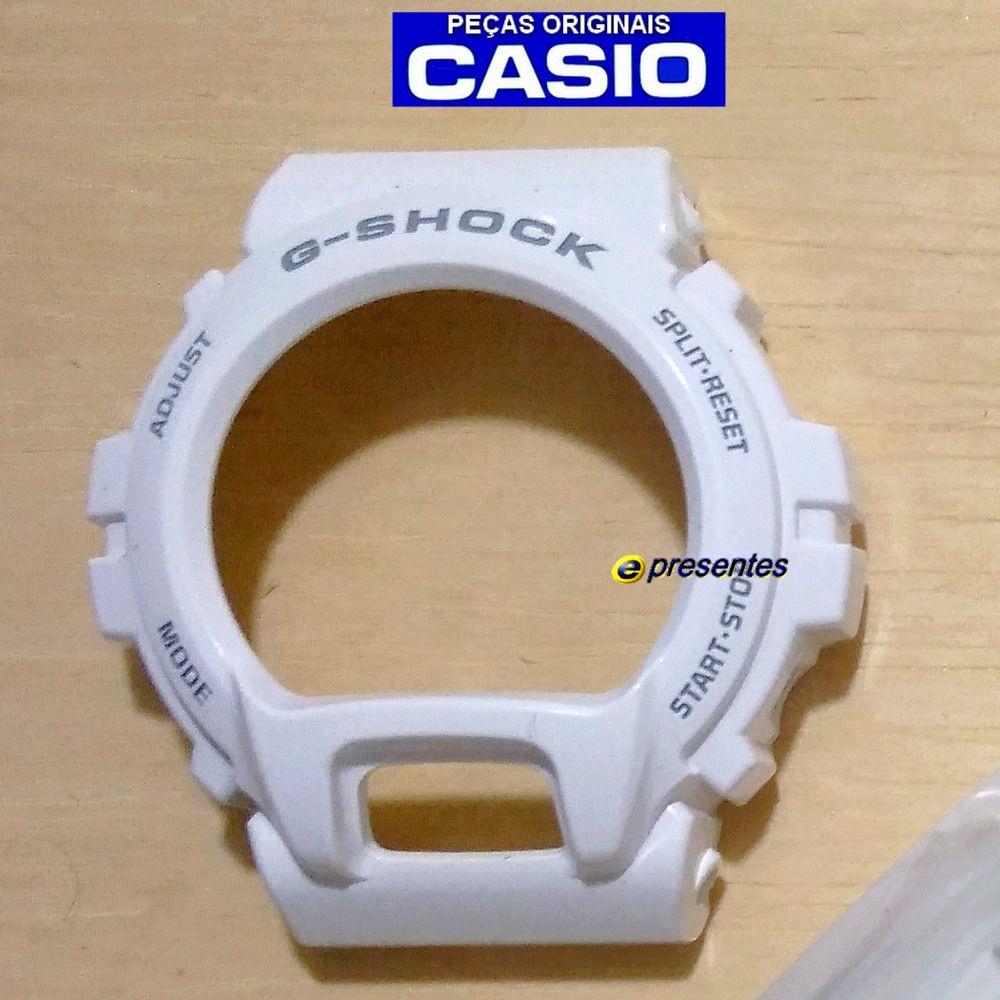 Bezel DW-6900PL-7 Branco Brilhante 100% Original Casio G-Shock *  - E-Presentes