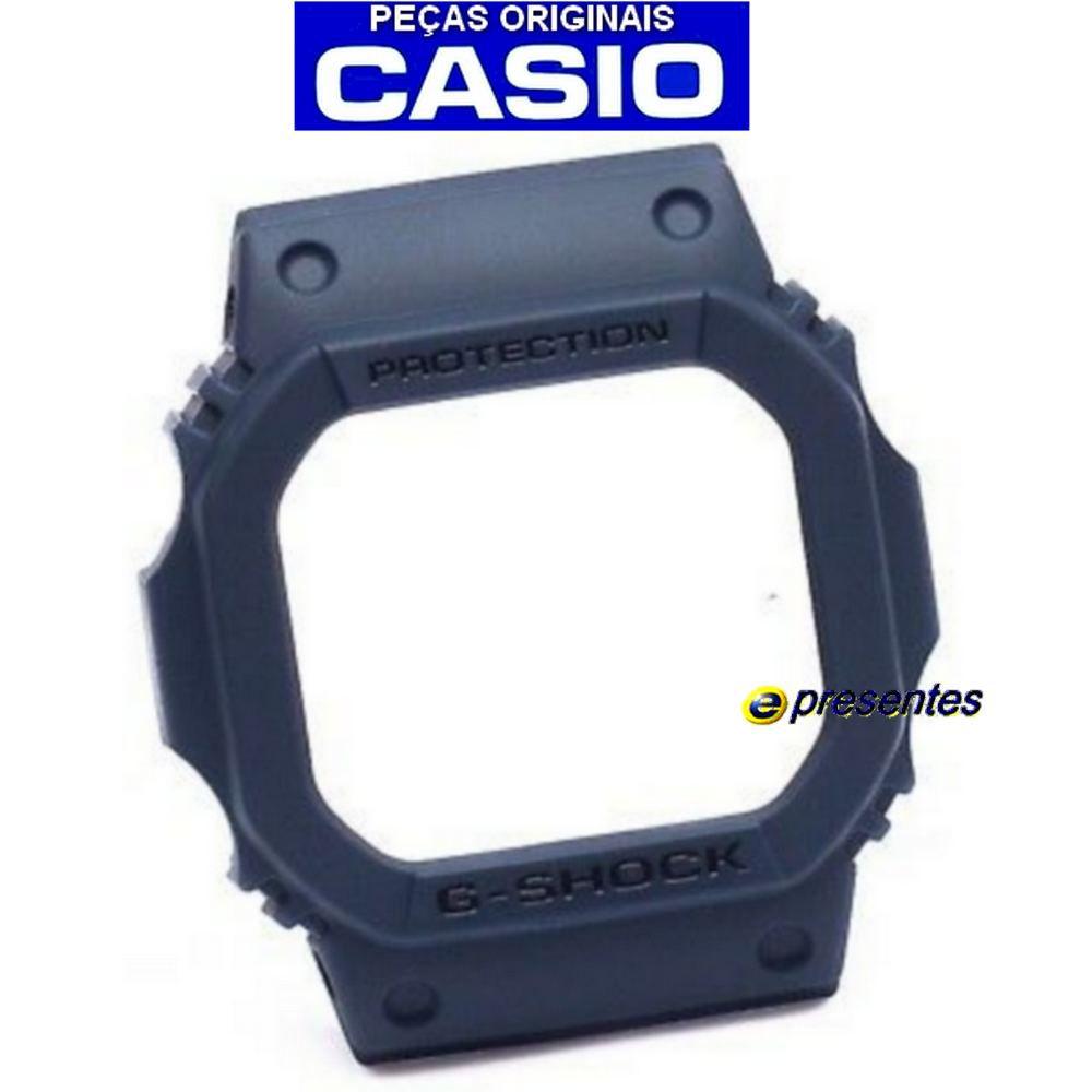 Bezel G-5600 GW-M5610 Azul Naval Casio G-shock - Peças Originais  - E-Presentes