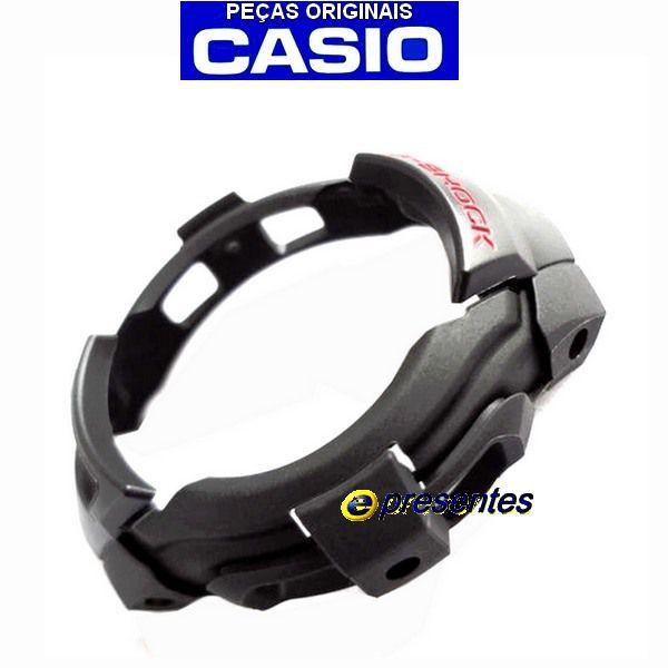 Bezel G-7300 G-7301 Casio G-shock Resina Preta - 100% Original   - E-Presentes
