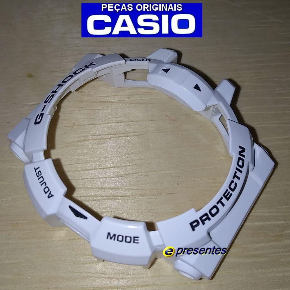 BEZEL GA-400-7A Branco Brilhante Casio G-shock 100% Original   - E-Presentes