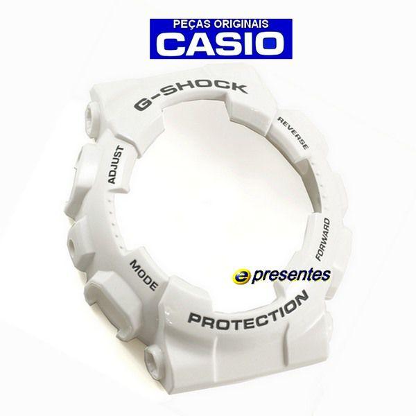 Bezel + Pulseira bezel GD-110-7a Casio G-shock Branco Brilhante Verniz  - E-Presentes