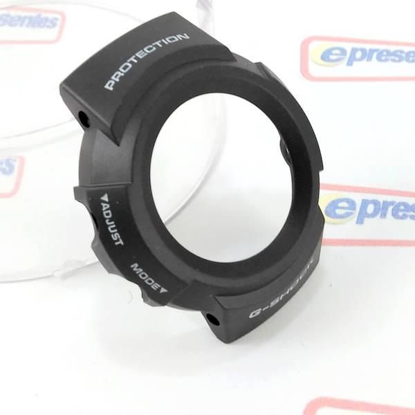 Bezel + Pulseira Casio 100% Original - Resina Preta G-shock Aw-582  - E-Presentes