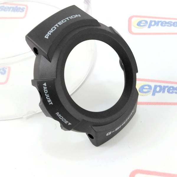 Bezel + Pulseira Casio G-shock - AW-582 100% Original - Resina Preta    - E-Presentes