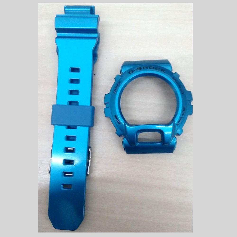 Bezel + Pulseira Casio G-shock Azul Verniz GB-X6900B-2   - E-Presentes