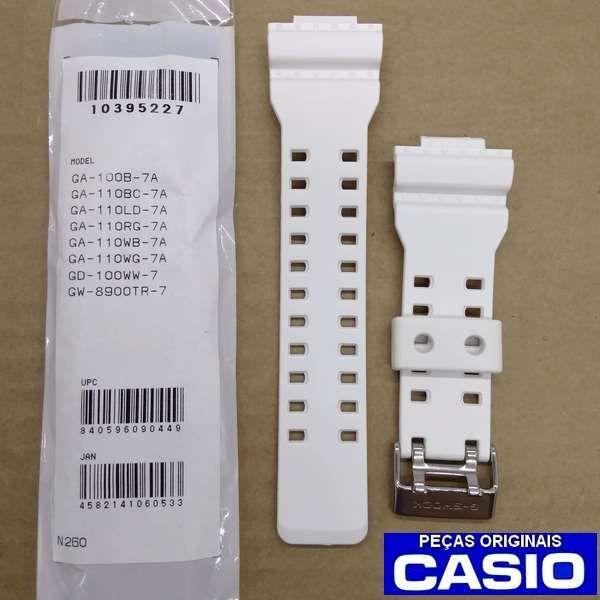 Bezel + Pulseira Casio G-shock Branco Fosco Ga-100B-7A  Ga-110  - Alexandre Venturini