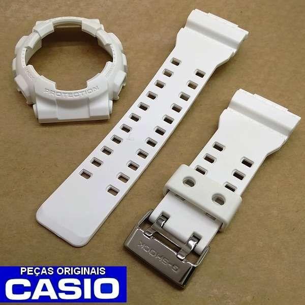 Bezel + Pulseira Casio G-shock Branco Fosco GA-110BC-7A GD-100WW-7A  - Alexandre Venturini