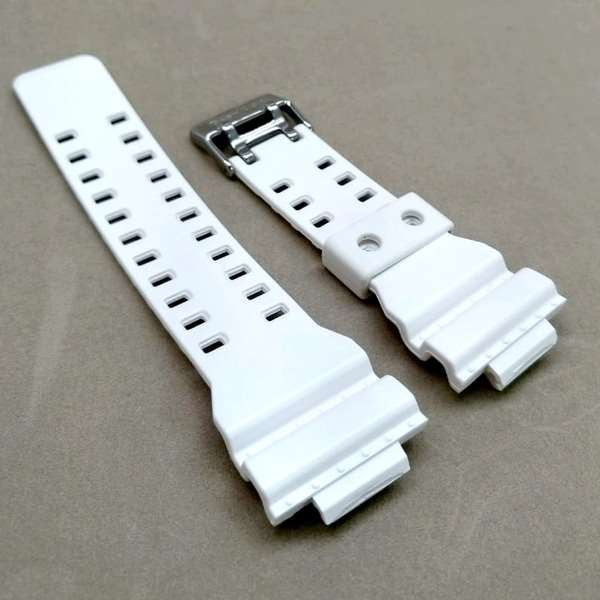 Bezel+ Pulseira Casio G-Shock Branco Fosco Ga-110rg-7a   - E-Presentes