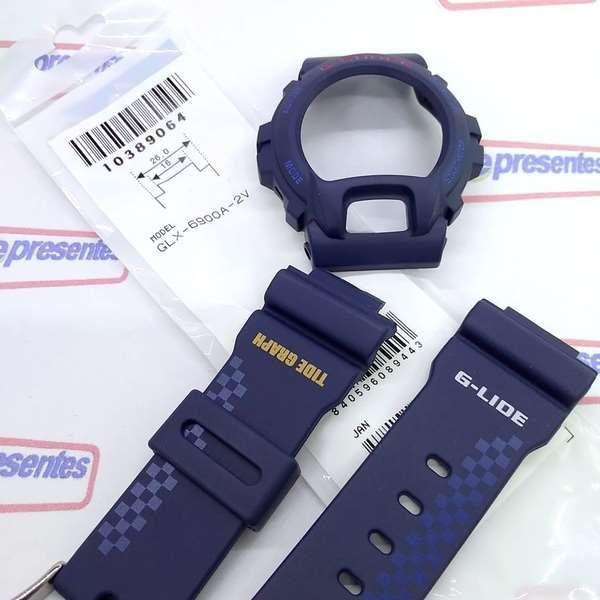 Bezel + Pulseira Casio G-Shock GLX-6900A-2 Azul Escuro Fosco  - E-Presentes