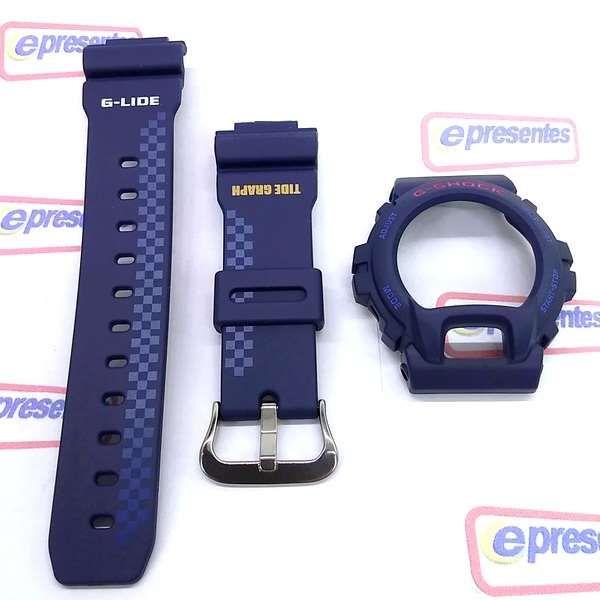 Bezel + Pulseira Casio G-Shock GLX-6900A-2 Azul Escuro Fosco  - Alexandre Venturini