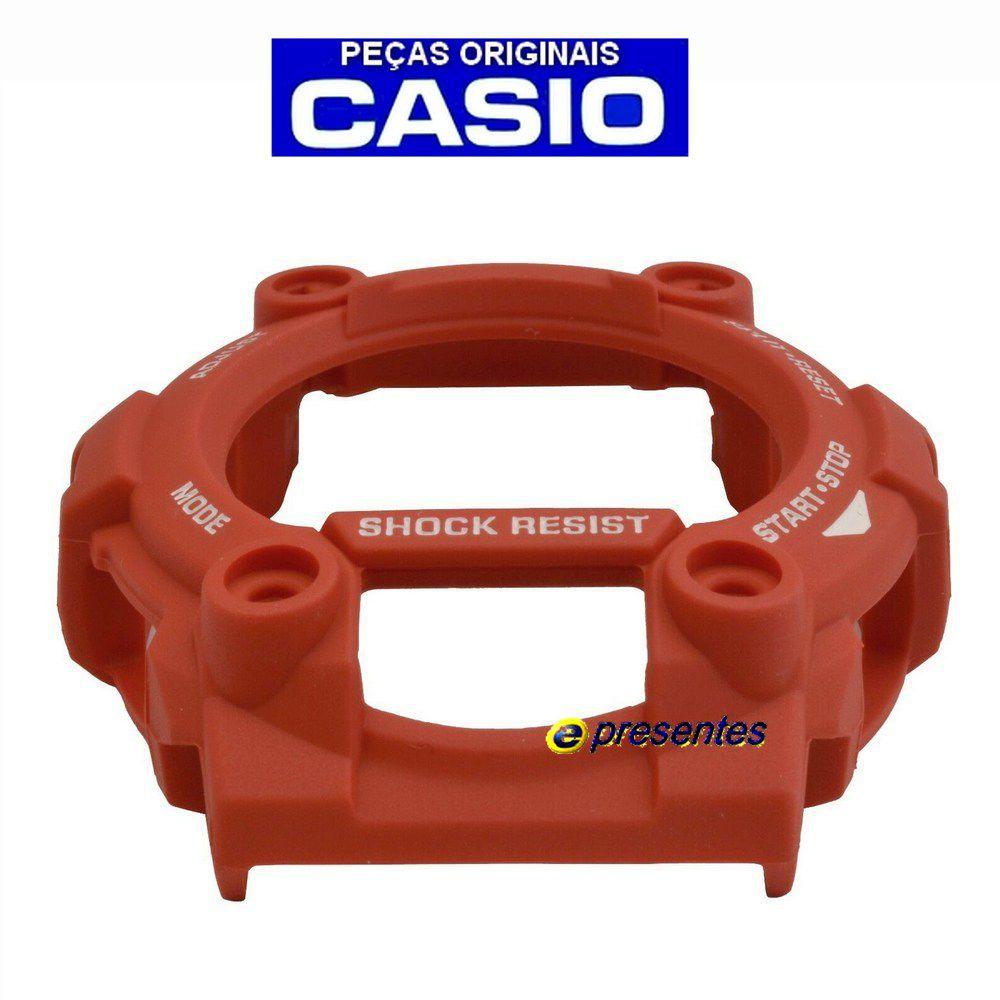 Bezel + Pulseira Casio G-shock Vermelho G-7900 100% Original  - E-Presentes